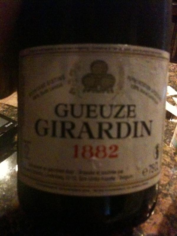 Girardin Gueuze 1882 White Label (filtered)