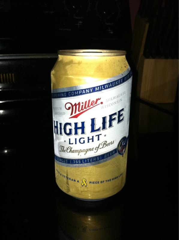 miller high life light brewgene. Black Bedroom Furniture Sets. Home Design Ideas